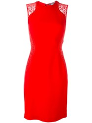 Stella Mccartney Lace Detail Bodycon Dress Red