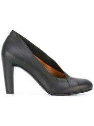 Roberto Del Carlo Stitching Detail Pumps Black