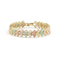 Cielle London Pastel Geometric Square Bracelet Blue Green Pink