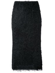 Jil Sander Shaggy Skirt Black