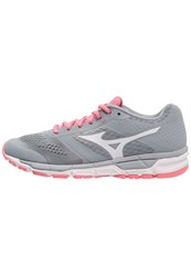 Mizuno Synchro Mx Cushioned Running Shoes Quarry White Strawberry Pink Grey