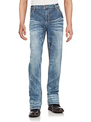 Affliction Cotton Blend Faded Jeans Compton