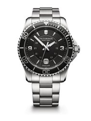 Victorinox Maverick Stainless Steel Bracelet Watch Silver