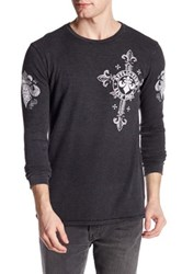 Affliction Lifeless Long Thermal Graphic Shirt Black