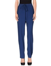 Kaos Trousers Casual Trousers Women Blue