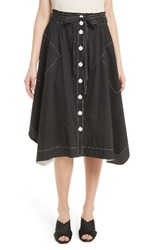 Tracy Reese Women's Button Front Skirt Black