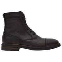 Reiss Arnold Grain Leather Boots Brown