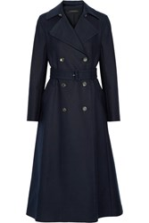 The Row Frenton Stretch Cotton Gabardine Trench Coat Navy