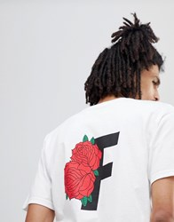 Fairplay T Shirt With Roses Back Print In White