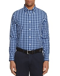 Brooks Brothers Gingham Slim Fit Button Down Shirt Navy