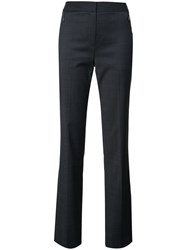 Elie Tahari High Waisted Trousers Blue