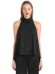 Cameo Cotton Top W Open Back Bow Detail