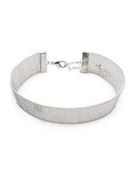 Design Lab Lord And Taylor Mesh Choker Collar Silver