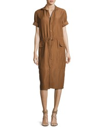 Ralph Lauren Tilden Short Sleeve Shirtdress Brown