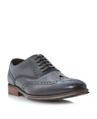 Linea Rallys Oxford Lace Up Brogues Black