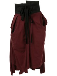 Aganovich High Waisted Jersey Skirt Red