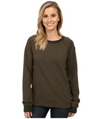Lucy Quilted Inner Strength Long Sleeve Forest Heather Women's Long Sleeve Pullover Blue