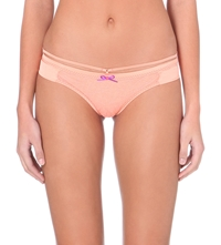 Myla Honey Lace And Satin Knickers Orange