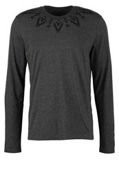 Your Turn Long Sleeved Top Mottled Dark Grey