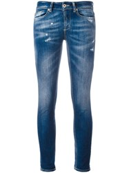Dondup Light Wash Skinny Jeans Blue