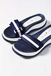 Jeffrey Campbell Paresa Sporty Slide Sandal Navy
