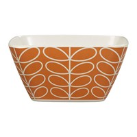 Orla Kiely Bamboo Bowl Linear Stem Persimmon