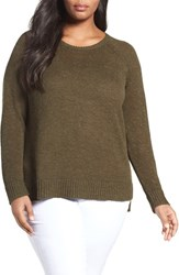 Eileen Fisher Plus Size Women's Slubbed Organic Linen And Cotton Sweater Surplus