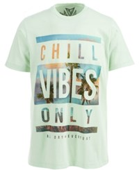 Univibe Chill Vibes Only Graphic Print T Shirt Honeydew