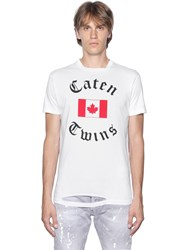 Dsquared Canadian Flag Cotton Jersey T Shirt