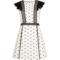 River Island Womens White Floral Print Frilly Dress