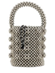 Shrimps Poppy Beaded Top Handle Bag Silver