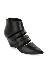Belle By Sigerson Morrison Wilma Leather Wedges Black