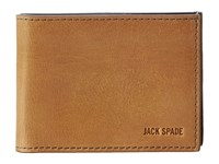 Jack Spade Mitchell Leather Index Wallet Saddle Navy Bill Fold Wallet Brown