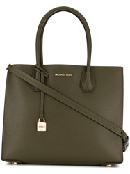 Michael Michael Kors Lockpad Tag Tote Women Leather One Size Green