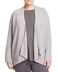 Marina Rinaldi Margaret Zip Detail Open Cardigan Light Gray