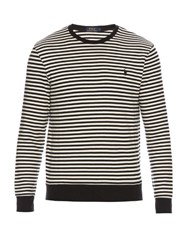 Polo Ralph Lauren Striped Cotton Sweater Black Multi