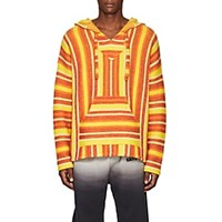 Adaptation Striped Cashmere Baja Hoodie Red