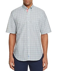 Tailorbyrd Miners Check Classic Fit Button Down Shirt Lime Green