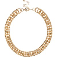 River Island Womens Gold Tone Chunky Chain Necklace