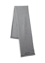 Bally Silk Logo Scarf Grey