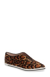 James Chan Women's Tisha Ii Slip On Sneaker Camel Multi Calf Hair