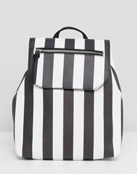 Stradivarius Stripe Backpack Multi