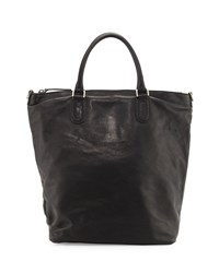 Red Valentino Men's Leather Shopper Tote Bag Black
