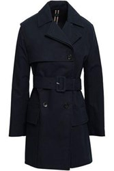 Joseph Aquila Double Breasted Cotton Trench Coat Midnight Blue