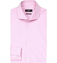 Hugo Boss Slim Fit Cotton Blend Shirt Light Pastel Pink