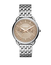 Fossil Casual Tailor Stainless Steel Watch Silver