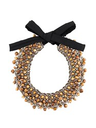 Night Market Pearl Necklace Brown