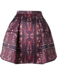 Mary Katrantzou 'Jc Calculon' Printed Full Skirt Red