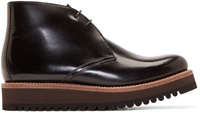 Grenson Black Patent Leather Gregory Boots