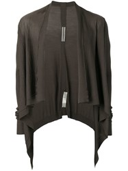 Rick Owens Draped Cardigan Grey